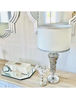 LAMPE DE TABLE METAL ARGENT