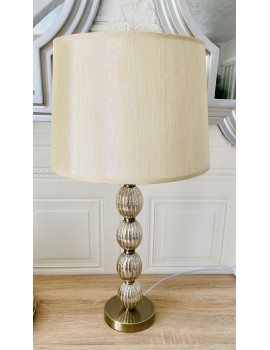 LAMPE A POSER BEIGE IRISÉ