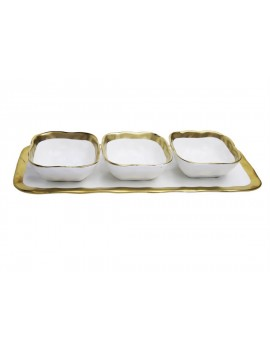 PLAT AVEC BOLS WHITE GOLD